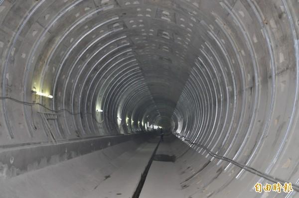 機場捷運站A22老街溪站隧道已開挖、大致施工完成。(記者許倬勛攝)