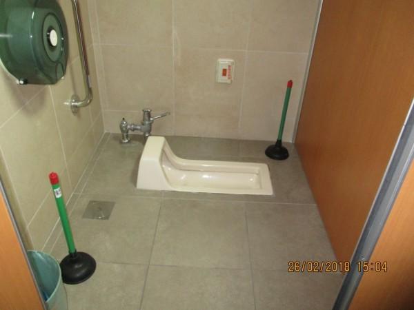 張嫌在台大醫學院女廁放置2個馬桶吸把,以便用不同角度偷拍。(記者劉慶侯翻攝)