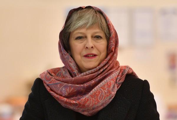 英國首相梅伊。(法新社)