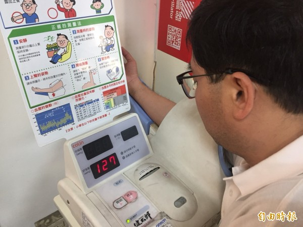 為鼓勵民眾定期量血壓,彰化縣衛生局建置雲端血壓系統,供醫療人員診斷參考。(記者張聰秋攝)