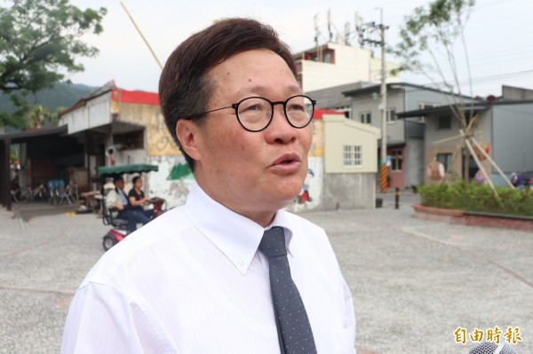 宜蘭縣代理縣長陳金德表示,如果蘇花改屬於省道等級,法令上許可,開放機車行駛沒什麼不可以。(記者林敬倫攝)