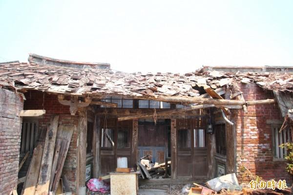 蔡家古厝的正身獲指定為歷史建築。(記者林宜樟攝)