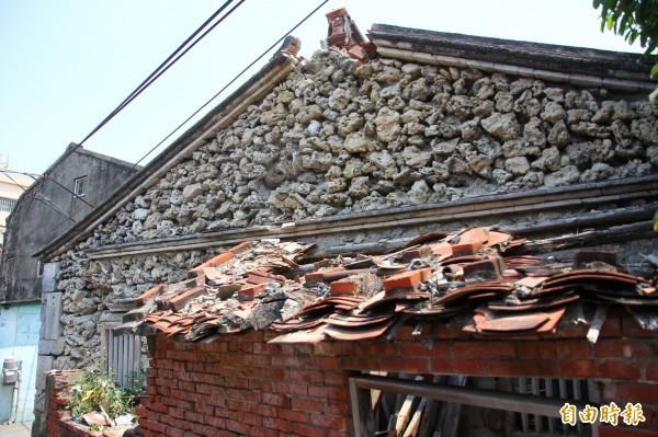 蔡家古厝是嘉義罕見的硓咕石屋。(記者林宜樟攝)