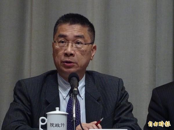 行政院發言人徐國勇表示,針對中國軍演,政府有監控,我們自己要有信心。(資料照)