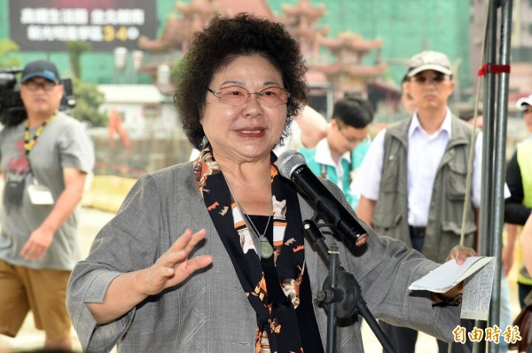 蘇貞昌新北競選總部主委傳鎖定高雄市長陳菊(圖)。(資料照)
