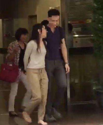 張女丈夫找來徵信人員,拍下羅男前往張女租屋處的畫面。(記者王冠仁翻攝)