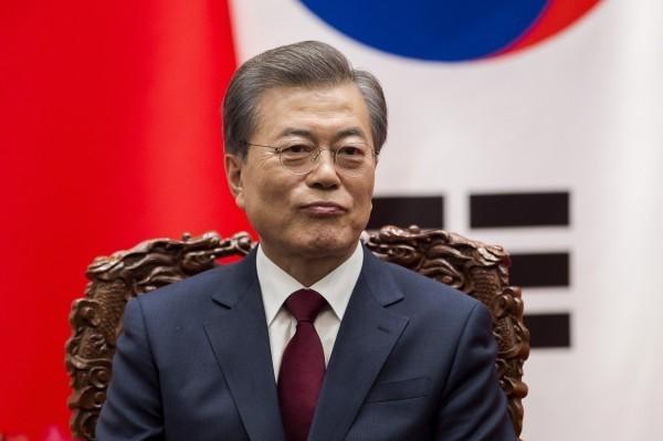 南韓總統文在寅。(歐新社)