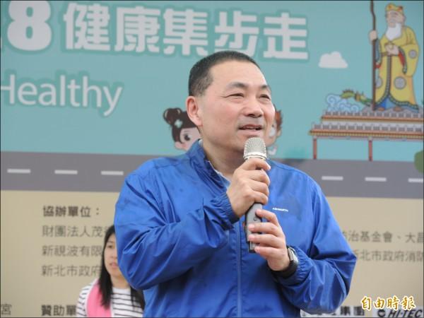 侯友宜日前拜訪前總統馬英九,馬英九鼓勵努力為市民勝選。(記者翁聿煌攝)