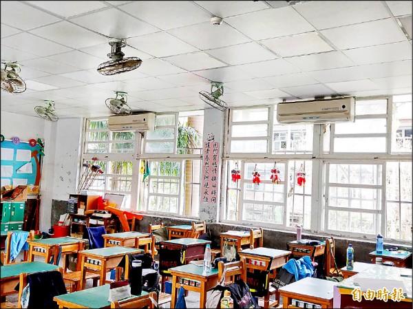 桃園區各國中已普遍設有班級冷氣,引發議員認為「重北輕南」。(記者陳昀攝)