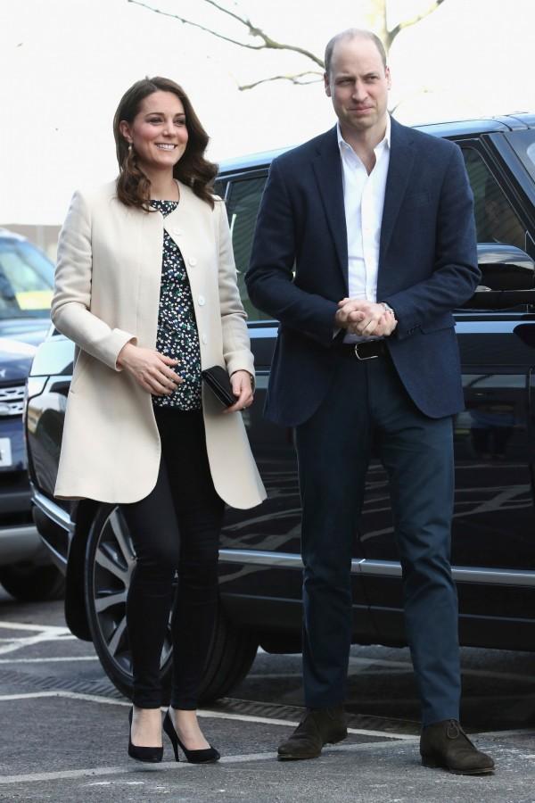英國凱特王妃順利誕下男寶寶。(美聯社)