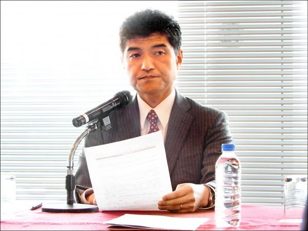 前日本防衛研究所主任研究官道下德成。(駐日特派員林翠儀攝)