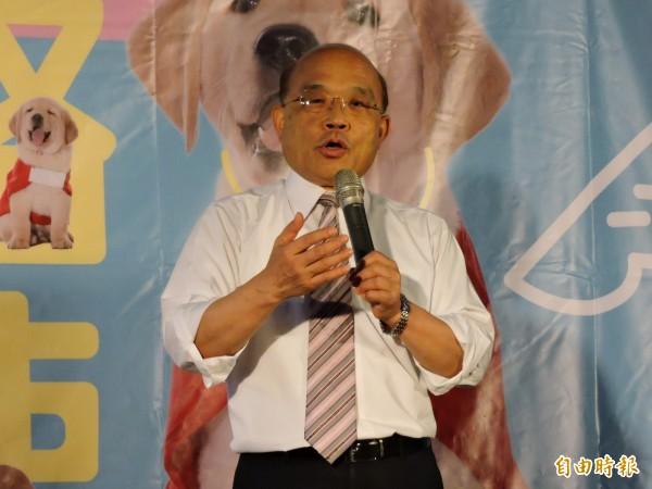 民進黨新北市長參選人蘇貞昌強調,自己過去任內的成績,就是最好的保證,一定「讓新北再次發光」。(資料照)