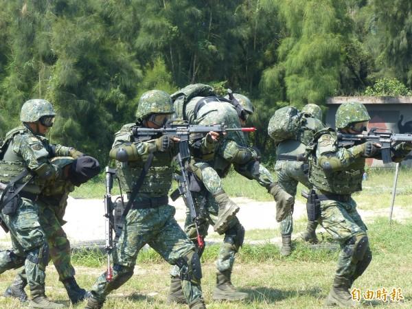 最近國軍積極招募志願役。(資料照)