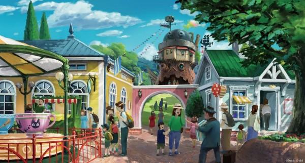 「魔女之谷區」結合《霍爾的移動城堡》及《魔女宅急便》中「琪琪的家」之意象。(圖擷自大村秀章Twitter)