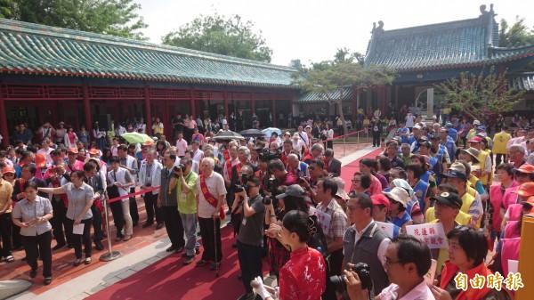 台南市文化局舉辦鄭成功祭典及鄭成功文物館常設展開幕。(記者劉婉君攝)