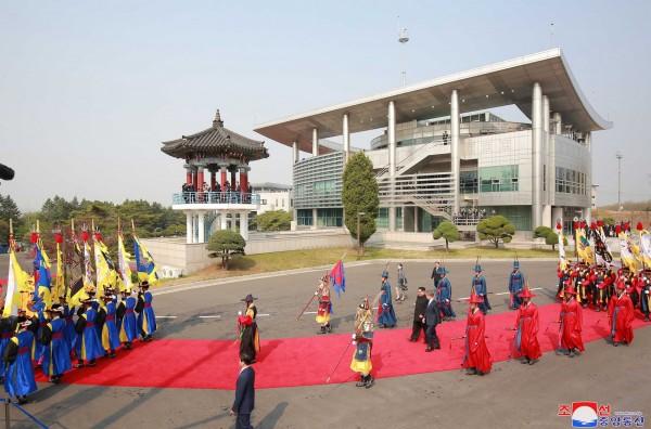 上週南韓總統文在寅與北韓領導人金正恩4月27日就是在南北韓交界板門店的自由之家舉辦高峰會。(法新社資料照)