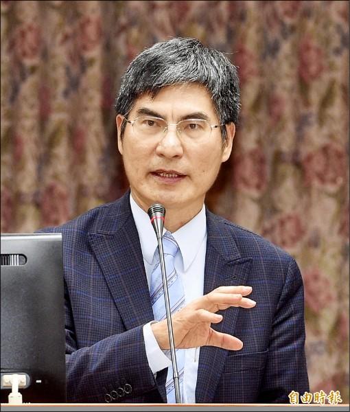 科技部長陳良基昨在立法院答詢指出,僅僅四月,科學園區網路遭惡意攻擊就超過六十八億次。(記者羅沛德攝)