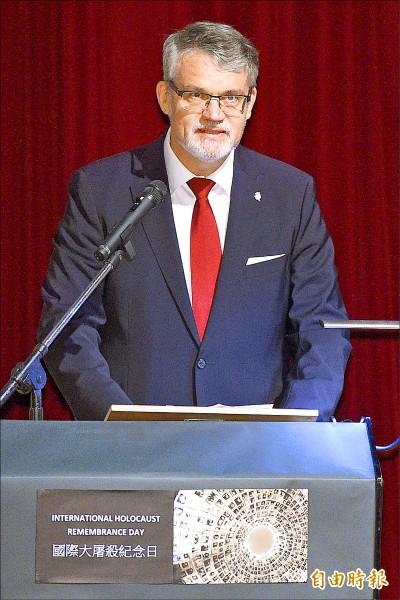 德國在台協會處長歐博哲昨出席能源論壇時談及,台灣與德國理念相近,且是很好的合作夥伴。(資料照,記者陳志曲攝)