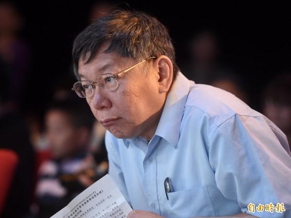 新勇哥物語評析台北市長選情,認為民進黨不是沒有機會贏得年底首都市長,但必須要提名「重量級強棒」。圖為北市長柯文哲。(資料照)