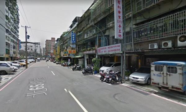 男子疑久病厭世,在後竹圍街一處防火巷上吊自殺。(圖擷自Google Map)