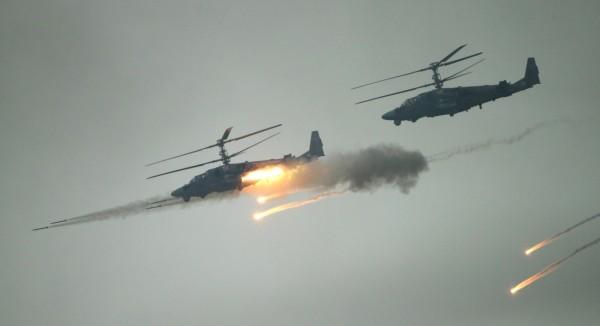 一架Ka-52攻擊直升機在敘利亞墜毀,駕駛雙亡。(歐新社)