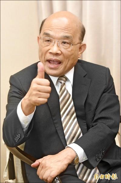 民進黨新北市長參選人蘇貞昌。(記者簡榮豐攝)
