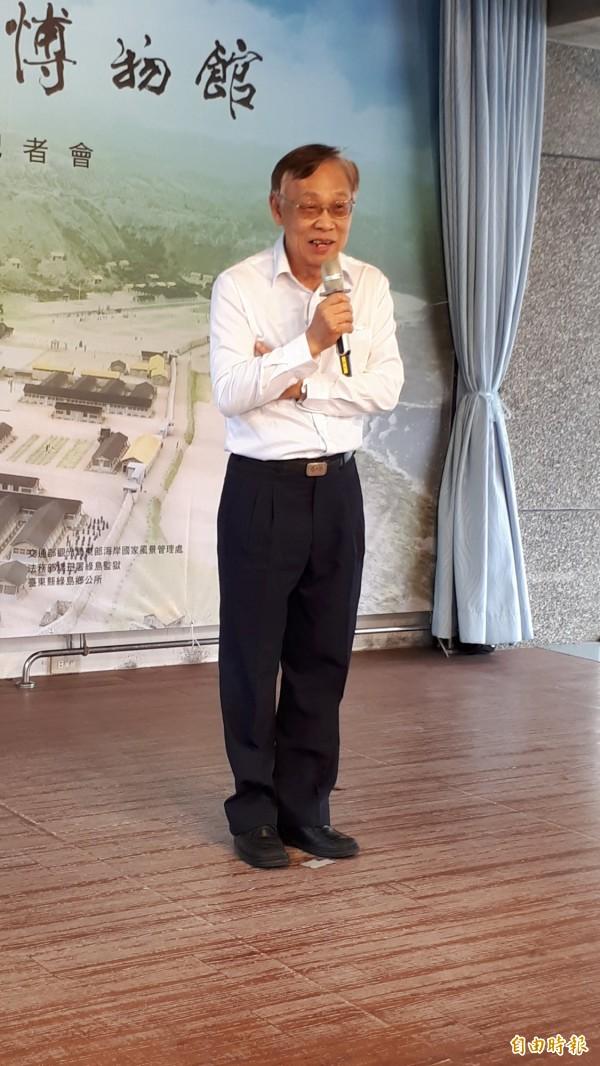 白色恐怖受難者陳欽生現在是綠島園區的英語導覽員。(記者黃明堂攝)