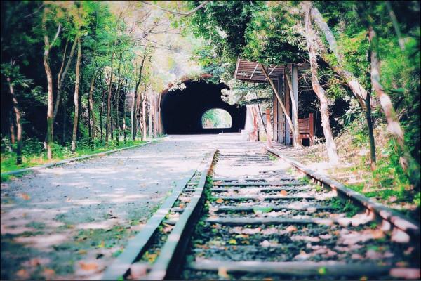 崎頂子母隧道中一號(母)隧道(圖中)長約130公尺、二號(子)隧道約67公尺,因為2條隧道相距僅約50公尺,又稱為「子母隧道」。(記者李惠洲/攝影)