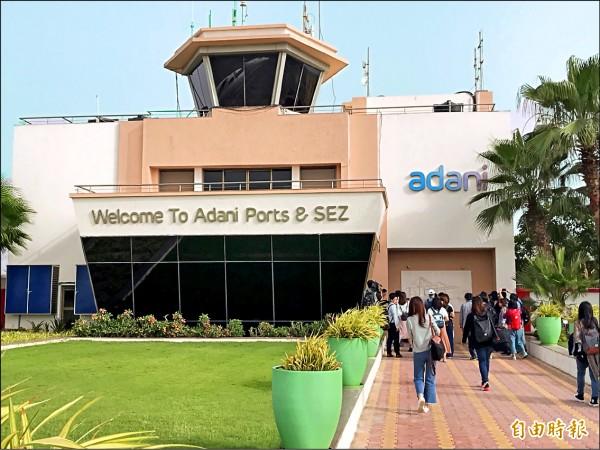 阿達尼集團在印度被喻為「港口之王」,擁有全國十個港口的經營權,台灣中鼎工程在印度耕耘多年,首度與阿達尼集團合作。(記者羅倩宜攝)