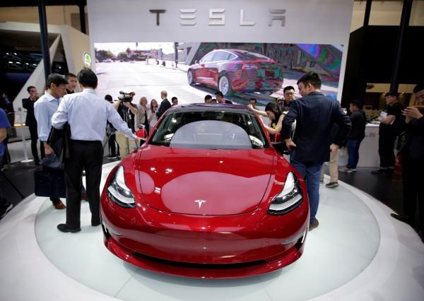 電動車大廠特斯拉(Tesla)確定在中國上海設廠。(資料照,路透)