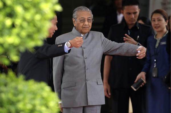 馬來西亞總理馬哈地。(資料照,美聯社)