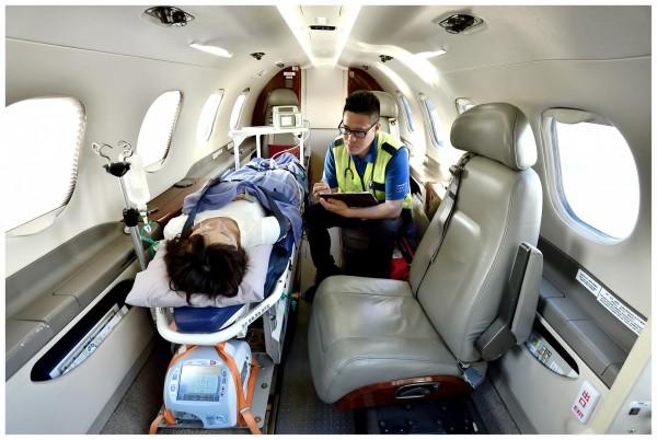 Phenom 300未來將協助金門緊急醫療後送服務。(飛特立提供)