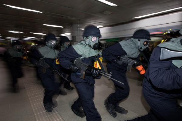 南韓國防部今(21)日表示,美韓年度例行的「乙支自由衛士」(UFG)將照常舉行,規模不減。圖為去年「乙支自由衛士」軍演。(彭博)