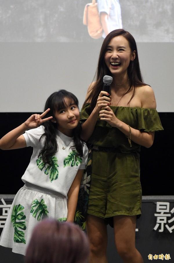 小童星盧宣彤跟香港氣質女神何佩瑜,有很多內心戲。(記者張忠義攝)