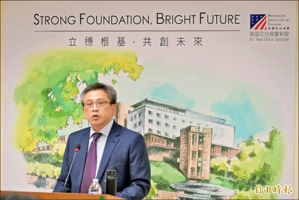 AIT處長梅健華強調,AIT新館是台灣第一座由外國駐台機構自己打造的建築。這不只是一棟新辦公大樓,更是美台友誼的具體象徵。(記者張嘉明攝)