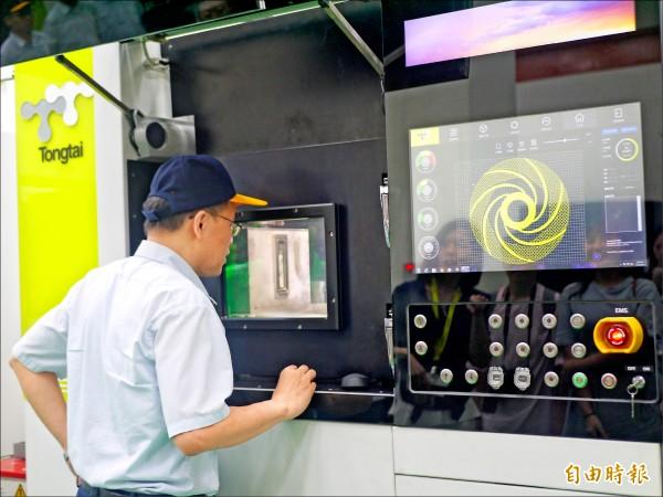 東台精機是國內第一個生產3D列印設備的廠商。 (記者簡惠茹攝)
