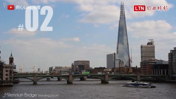 youtuber「阿心Liao」拍片分享自己到英國旅遊時的觀察。(授權:阿心Liao)