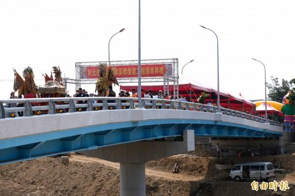 金山磺溪橋重建通車。(記者林欣漢攝)