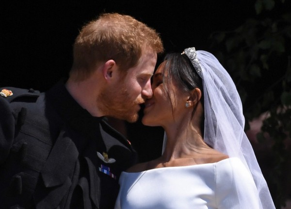 英國哈利王子19日與美國女星梅根馬克爾結婚。(歐新社)
