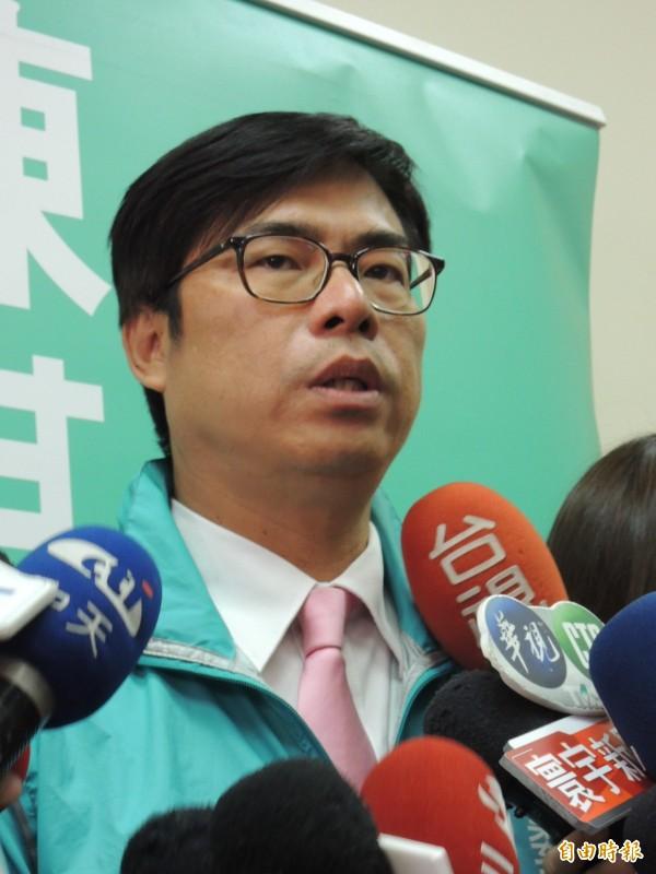 民進黨立委陳其邁民調領先。(記者王榮祥攝)