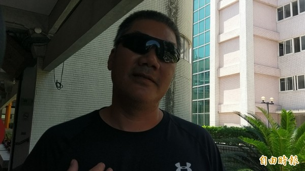 郭姓女模父得知土豪哥宣判結果後,對台灣司法表示感謝。(記者王秀亭攝)