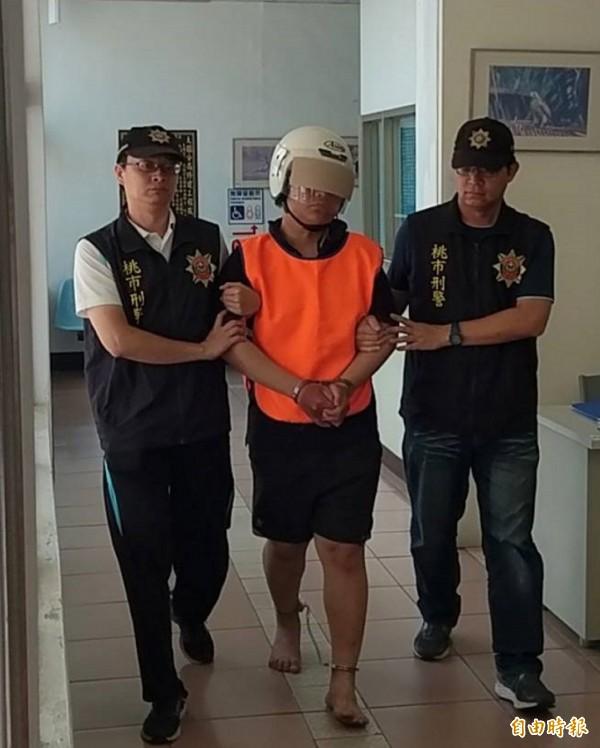 警方將砍死阿姨的范姓男子移送法辦。(記者謝武雄攝)
