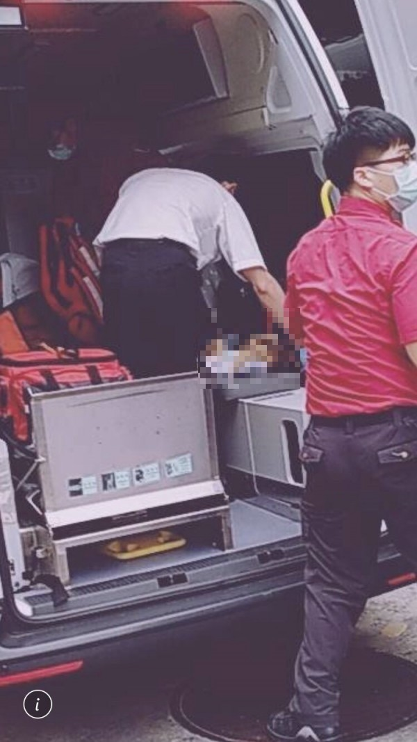 士林區一名2個月大男嬰失去生命跡象,緊急送醫不治身亡。(讀者提供)