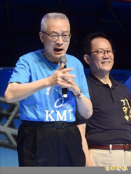 國民黨主席吳敦義昨出席藍絲帶音樂會。(記者簡榮豐攝)