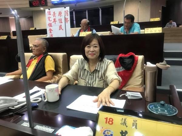 南投縣議員黃文君因罹患胰臟癌末期,今不幸病逝,享年51歲。(記者佟振國翻攝)