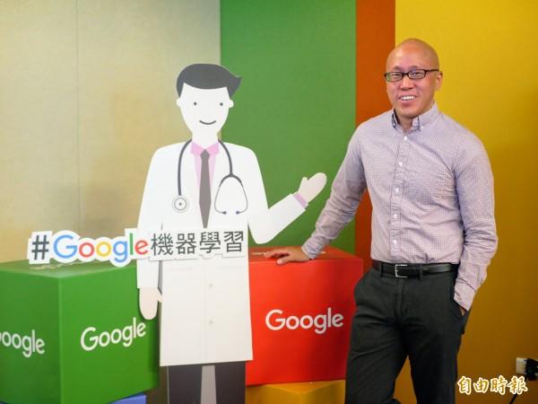 今天Google產品經理Daniel Tse在台灣辦公室發表最新研究。(記者簡惠茹攝)