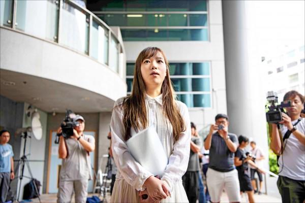 香港本土派政黨「青年新政」前立法會議員游蕙禎。(法新社)