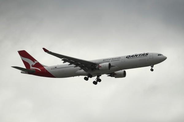澳洲航空(Qantas Airways)在中國施壓下屈服,宣布將應中國的要求,改變官網對台灣的標註,把台灣視為中國領土。(彭博資料照)