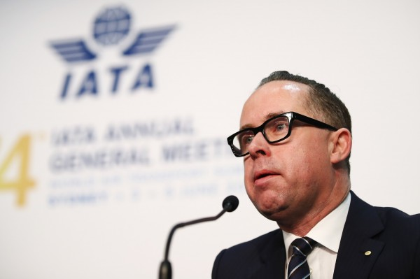 澳航執行長喬伊斯(Alan Joyce)4日在雪梨舉行的國際航空運輸協會(IATA)年會上表示,公司將遵守中國航空監管機構要求,更改台灣標註。(彭博)