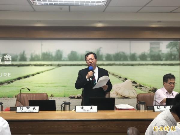桃園市長鄭文燦宣布,衛生所的護士若具護理師資格,改以護理師任用。(記者陳昀攝)